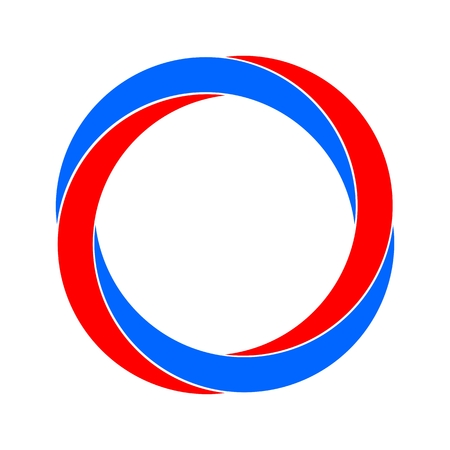 Organic symbol abstract circle logo red and blue Illustration