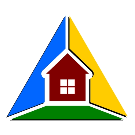 house logo: Triangle house abstract logo sign
