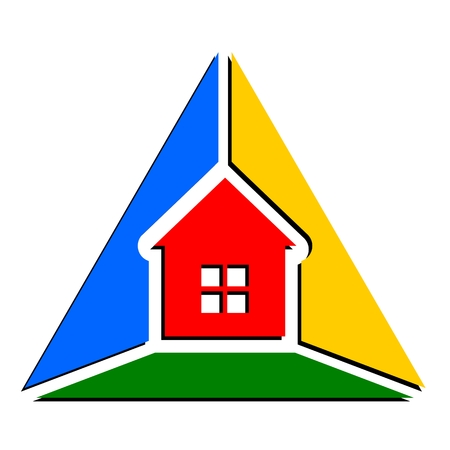 house logo: Triangle house abstract logo