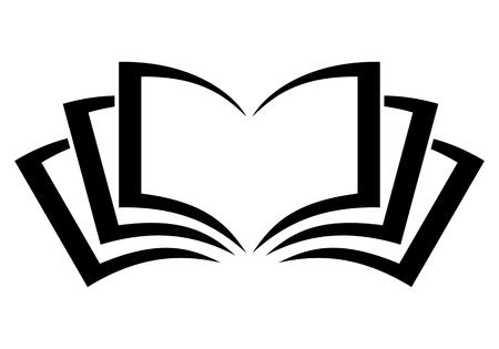 Book logo sign black