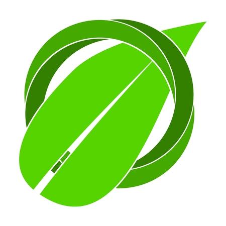 Organic symbol leaf abstract circle logo Illustration