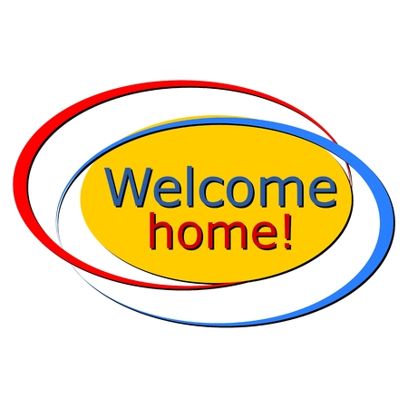 welcome home: Welcome home sign color
