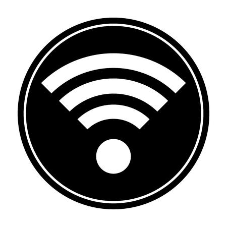 wireless hot spot: Wireless wifi circle icon