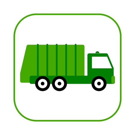 Recycle truck icon  イラスト・ベクター素材