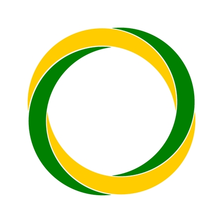 germinate: Organic symbol leaf abstract circle yellow and green logo