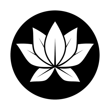 Lotus flower black circle