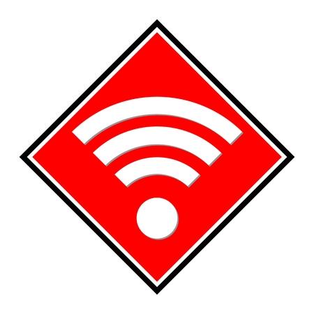 wireless hot spot: Wireless wifi red icon Illustration