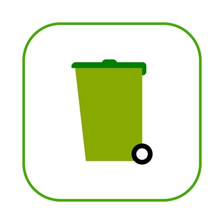environmental awareness: Recycle bin vector