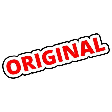 original: Original red Illustration