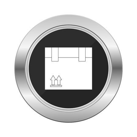 silver service: Delivery service silver button