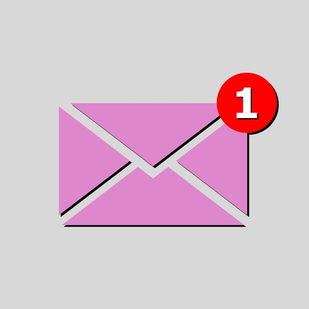 unread: Simple image unread mail pink
