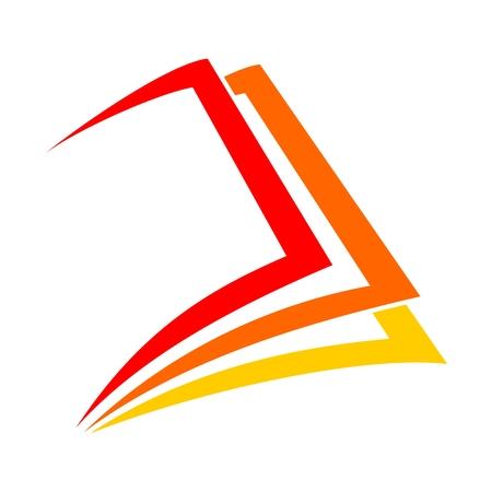 Vector segno icona del libro Vettoriali