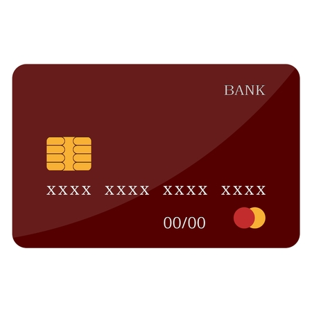 icon red: Credit card icon red