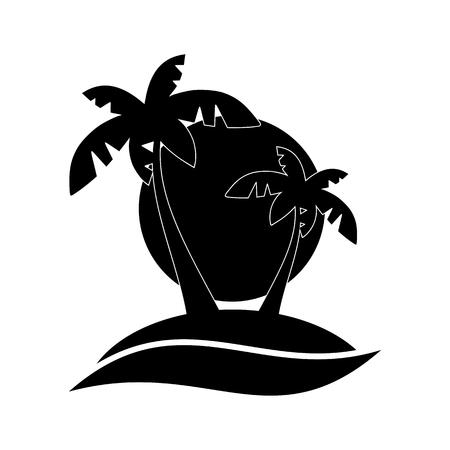 desert island: Abstract desert island with palm trees