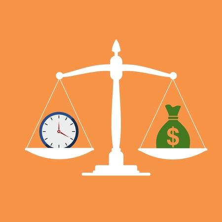 Time is money, concept d'affaires Vecteurs