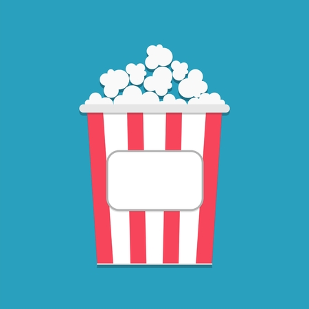 cut away: Popcorn package bag empty label tag Cinema