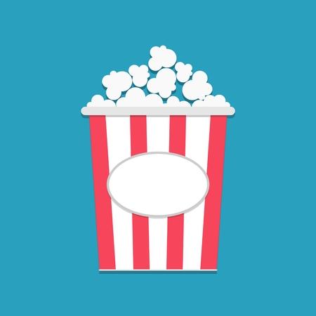 cut away: Popcorn package bag empty label tag Cinema icon flat