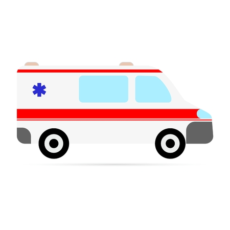 disaster relief: Ambulance on a white background