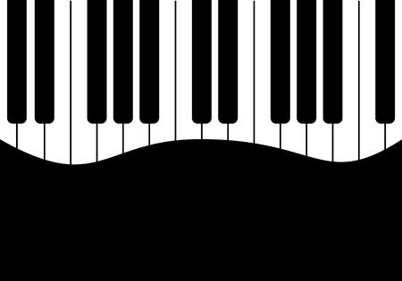 clavier: Music design Black piano