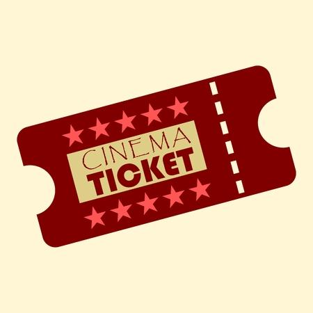 photo real: Cinema design ticket with stars