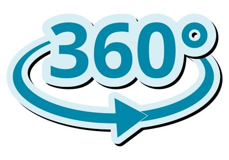 360 degres Symbol weißem Hintergrund Standard-Bild - 52304906