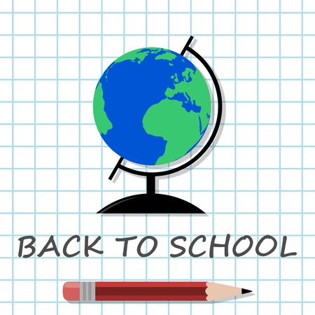 exercisebook: Back To School pen and globe
