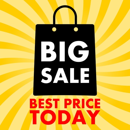 product signal: Big Sale Best Price Today Illustration