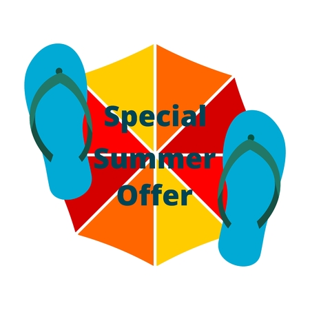promotional offer: Special Summer Offer Summer promotional design element