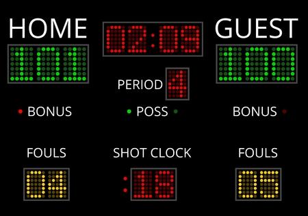 Digital Scoreboard Vektorové ilustrace