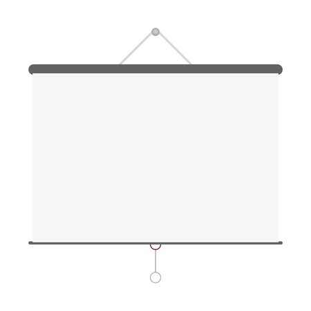 screen: Grey blank projector screen Vector Illustration