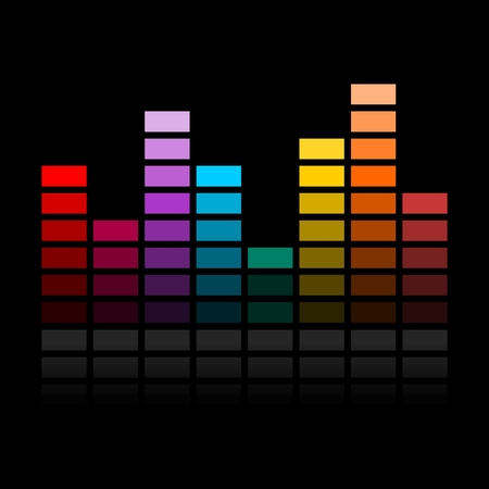 Vector Illustration einer Farbe Music Equalizer Vektorgrafik