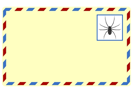 spam: Blank Spam letter with spider