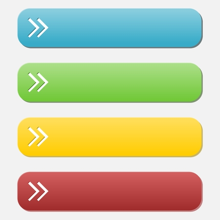 satined: Colorful long rounded buttons