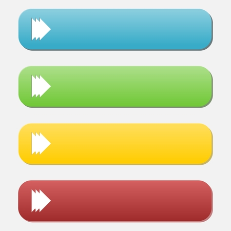 buy button: Set of empty buttons Illustration