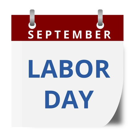 labor strong: Labor Day calendar Illustration