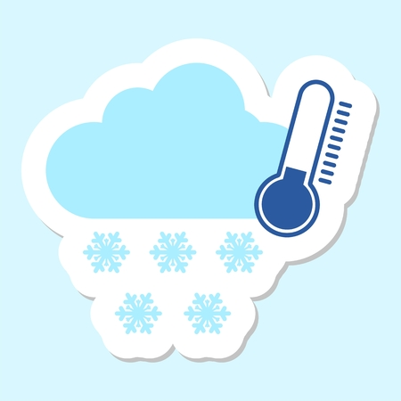 cold weather: Weather symbol cold snow