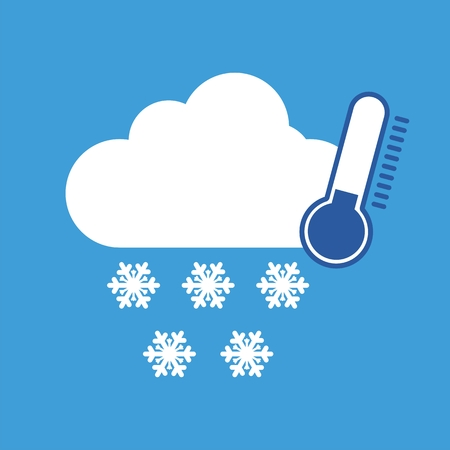 cold weather: Weather symbol cold and snow Illustration