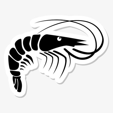 fried shrimp: Shrimp sticker
