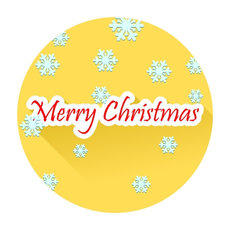 natale: Merry Christmas text with long shadow effect