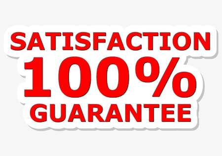 satisfaction: Satisfaction 100 Guarantee Red Sign Illustration