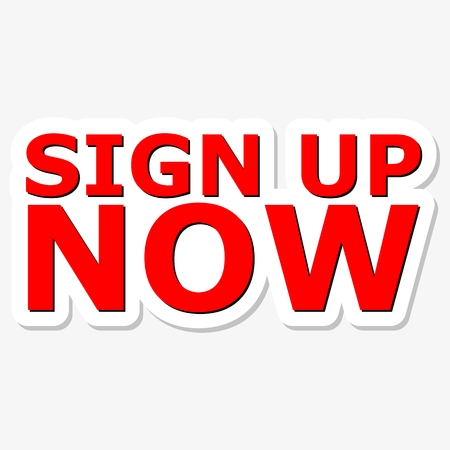 subscribe here: Sign Up Now Red Sign Illustration