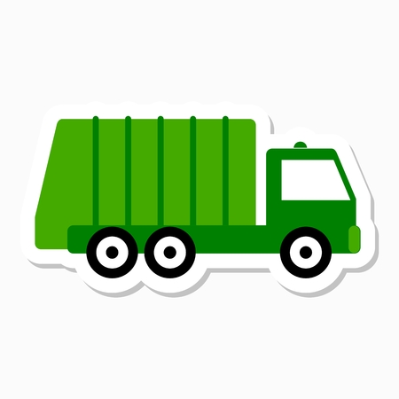 utilize: Recycle truck icon sticker