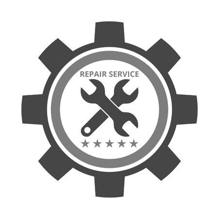 auto repair: Auto repair design gray gear