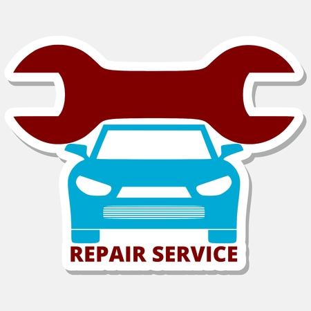 auto repair: Auto repair design blue car Illustration
