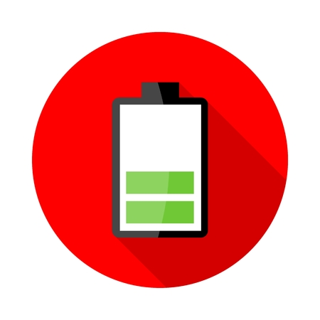 stored: Battery charging icons Illustration