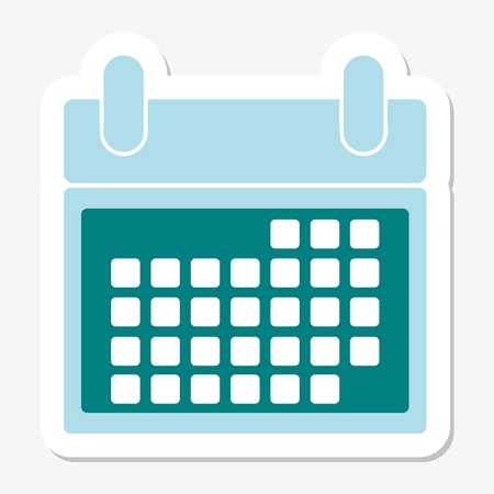 check book: Calendar Sticker Illustration