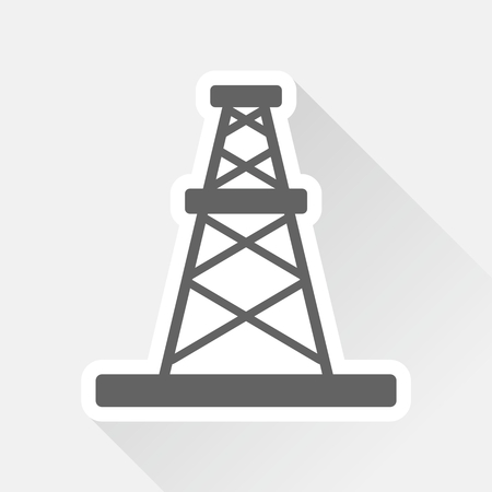 oil rig: Oil rig sticker with shadow