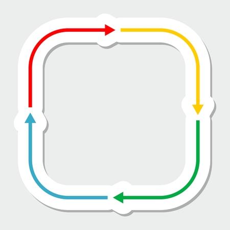 iterative: Color arrows Illustration