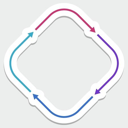 Color arrows Illusztráció