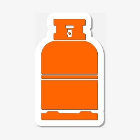 gas bottle: Gas Bottle sticker